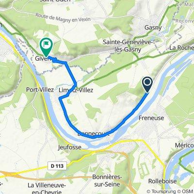 86bis Rue du Général Leclerc, Gommecourt to 60 Rue Claude Monet, Giverny