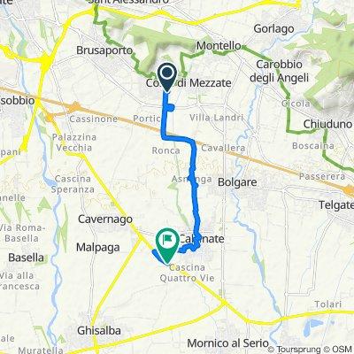 Da Via Don Antonio Seghezzi 1, Bagnatica a Strada Statale 573, Calcinate