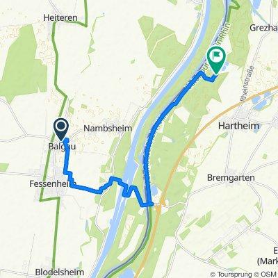 De Rue des Remparts 1B, Balgau à Unnamed Road, Hartheim am Rhein