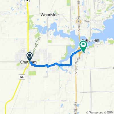 209 E Walnut St, Chatham to 8005 Hunt Rd, Springfield