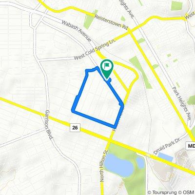 3446 Dolfield Ave, Baltimore to 3450 Dolfield Ave, Baltimore