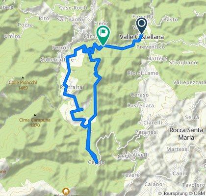 Valle Castellana, Ceppo, Montagna