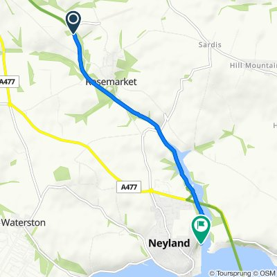 Route to Neyland Marina, Brunel Quay, Milford Haven