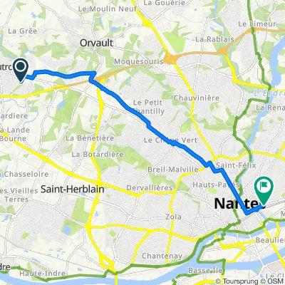 De 12 Rue du Moulin, Sautron à Cours John Kennedy, Nantes
