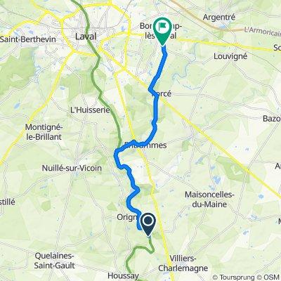 Itinéraire vers 30 Rue de Bel-Air, Bonchamp-lès-Laval