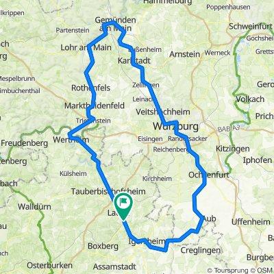 Königshofen-Würzburg-Wertheim-Königshofen