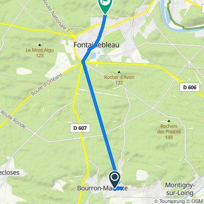 De Rue du Général Leclerc 173, Bourron-Marlotte à Boulevard du Maréchal Foch 55, Fontainebleau
