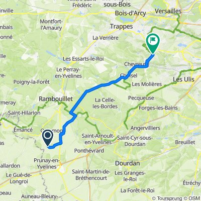 De Route de Craches, Orphin à 36 Avenue Claude-Nicolas Ledoux, Magny-les-Hameaux