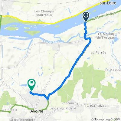 Itinéraire vers 10 Rue Jacques Cartier, Avoine