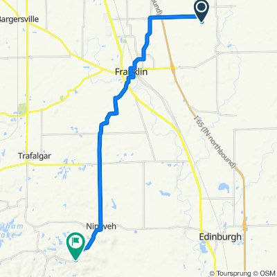 6401 E Urmeyville Rd, Franklin to 7680 Beech Tree Rd, Nineveh