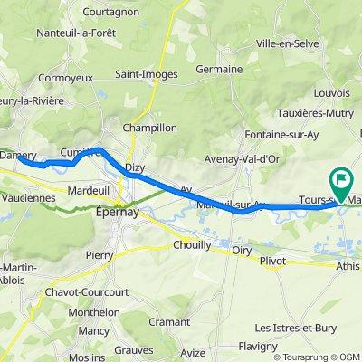 De 4 Rue de l'Église, Tours-sur-Marne à 8 Place de l'Église, Tours-sur-Marne
