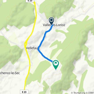 De 1 Grande Rue, Vallerois-Lorioz à Sainte-Anne, Vellefaux