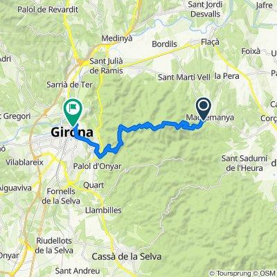 De GIV-6703, Madremanya a Calle Nou, 12, Girona