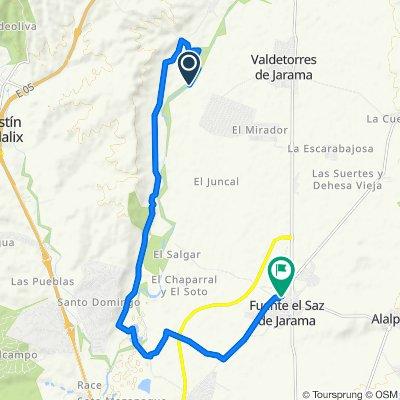 Ruta a Calle de Miralrío, 5–9, Fuente el Saz de Jarama