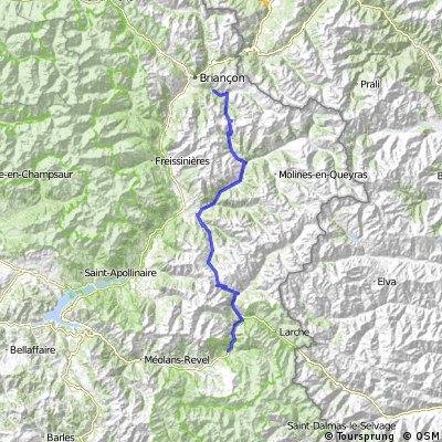 Briancon/Terre Rouge - Col du Izoard - Col de Vars - Jausiers