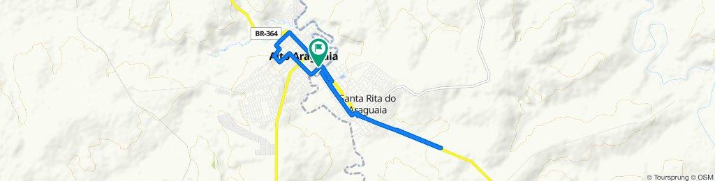 De Rua Santa Rita, 1–99, Alto Araguaia a Rua Santa Rita, 1–99, Alto Araguaia