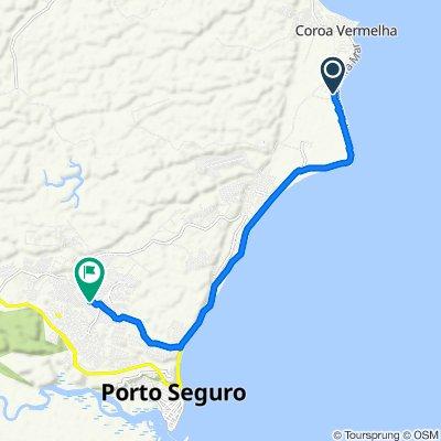De Avenida Beira Mar, 12475–12651, Porto Seguro a Rua Augusto Antônio Oliveira, 290, Porto Seguro