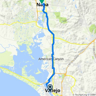 289 Mare Island Way, Vallejo to 969–999 Coombs St, Napa