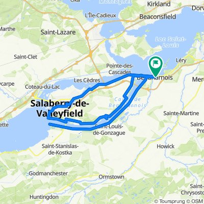 De 6A Rue Sainte-Catherine, Beauharnois à 6A Rue Sainte-Catherine, Beauharnois