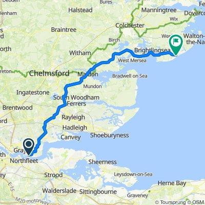 Tilbury to Clacton on Sea