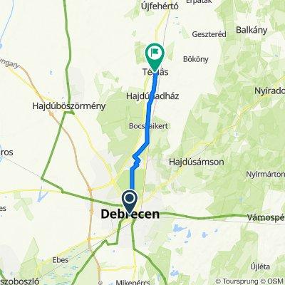 Debrecen to Teglás