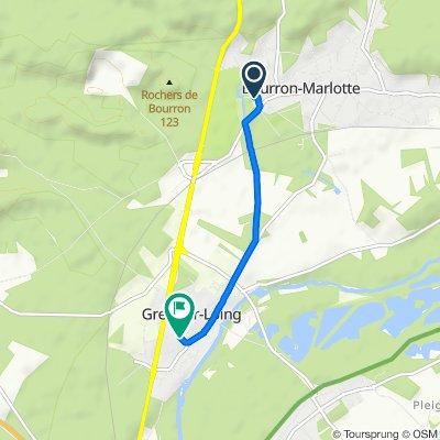 De 18 Rue du Maréchal Foch, Bourron-Marlotte à 8 Rue des Murgers, Grez-sur-Loing