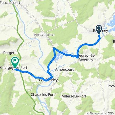 De Route de Vesoul, Faverney à 25 Rue de la Pennière, Chargey-lès-Port