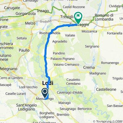 Da Via Grandi 15, Massalengo a Via 24 Maggio 1–11, Caravaggio