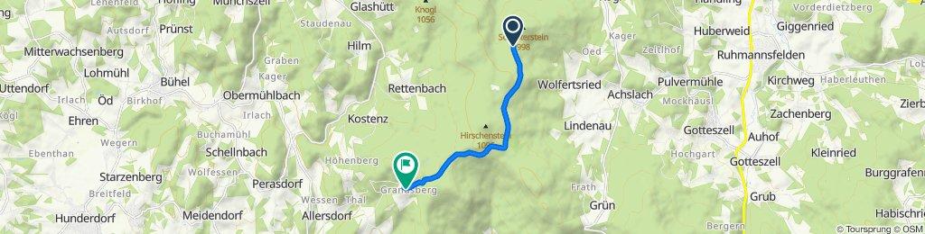 Route nach Grandsberg 6, Schwarzach