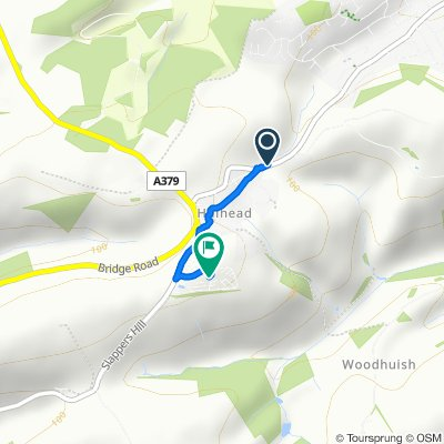 Route from Kingswear Road, Brixham