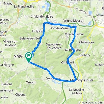 De 2 Route d'Omont, Villers-le-Tilleul à 2 Route d'Omont, Villers-le-Tilleul