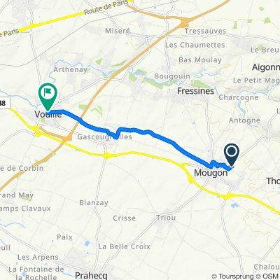 De 14 Rue des Coquelicots, Mougon à Rue de l'Abbaye, Vouillé