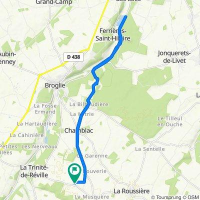 De 102 Route des Villequiers, La Trinité-de-Réville à 102 Route des Villequiers, La Trinité-de-Réville