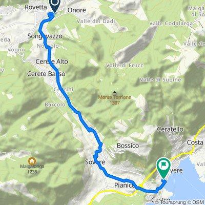 Da Via San Salvatore, Fino del Monte a Via Adamello 2, Lovere