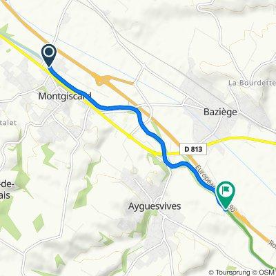 De 1 L'Écluse, Montgiscard à Chemin de Borde Haute, Ayguesvives
