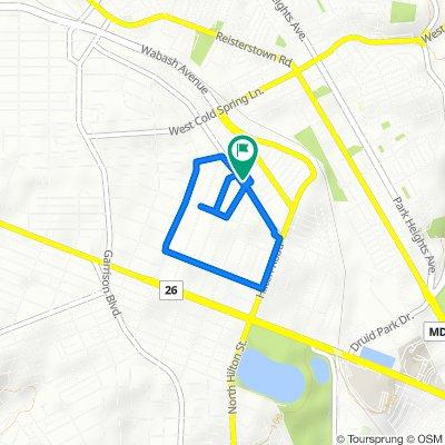 3448 Dolfield Ave, Baltimore to 3450 Dolfield Ave, Baltimore