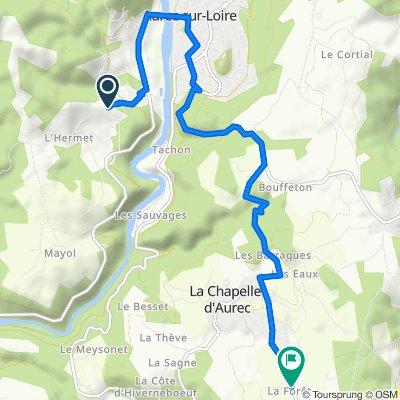 De Montée du Buisson, Aurec-sur-Loire à D471, La Chapelle-d'Aurec