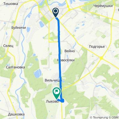 От Беларусь, Могилёв до Улица Центральная, Лыково
