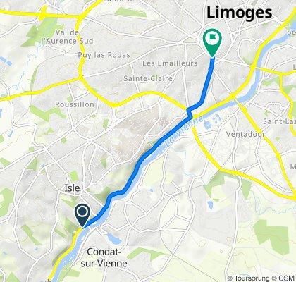 De 36 Route de Périgueux, Isle à 24 Boulevard Gambetta, Limoges