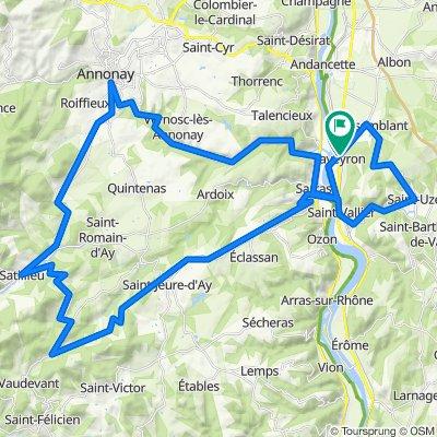 Saint-Vallier - Annonay - Col de Juvenet