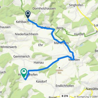 Route von Ankermühle, Dessighofen