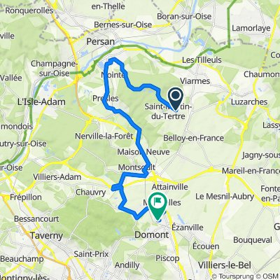 De Grande Allée Pavée de Franconville, Saint-Martin-du-Tertre à 5 Residence les Longues Raies, Domont