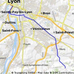 Lyon- chaponnay ca 22 km