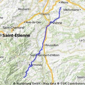 Venissieux-satillieu 75 km etape 2