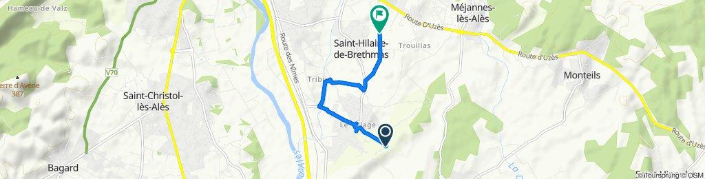 De Chemin de Fontaine À Rouage 631, Saint-Hilaire-de-Brethmas à Chemin de Pompeyrat 1067, Saint-Hilaire-de-Brethmas
