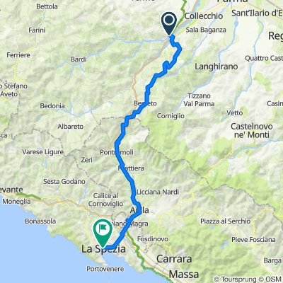 Via Francesco Baracca 7, Ramiola nach Via Vittorio Veneto 54, La Spezia
