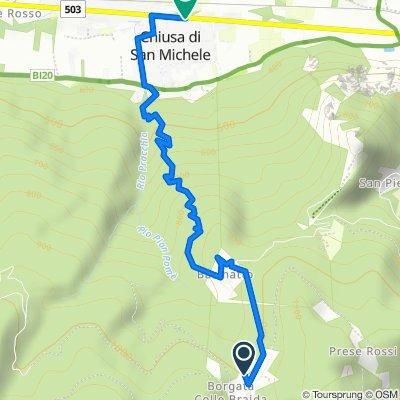 Da Borgata Colle Braida 28–30, Valgioie a Via Torino 16, Chiusa di San Michele