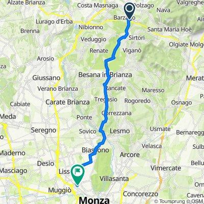 Da Via Dante Alighieri 15, Barzago a Via Ruggero Leoncavallo 54, Monza