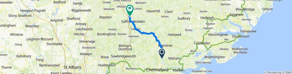 Route from Boreham Road
