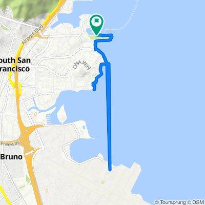 Marina Boulevard 940, South San Francisco to Marina Boulevard 940, South San Francisco